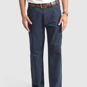 MEN'S CHINO PANTS – FLAT FRONT – CURVED POCKET